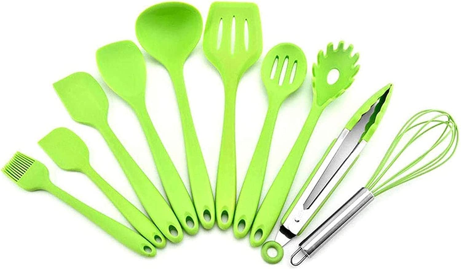 XKUN Elegant Durable 10-Piece Red Utens Kitchen Silicone Cooking Max Max 47% OFF 66% OFF