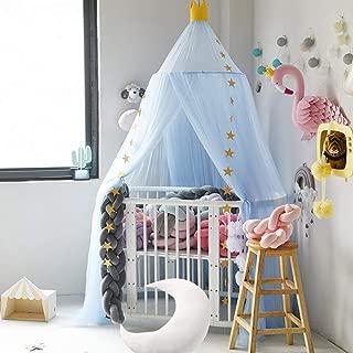 Hayisugar Moskitonetz Kinder Betthimmel Bettvorhang f/ür Babys,T/üll Insektenschutz Deko Baldachin H/ängende Moskiton f/ür Schlafzimmer Ankleidezimmer Blau