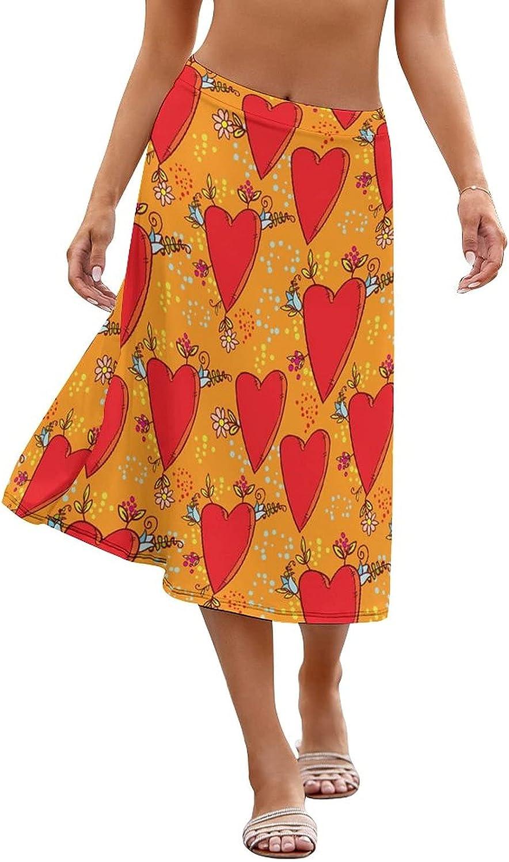 NIUZOOM Women's Flare Skirt Print