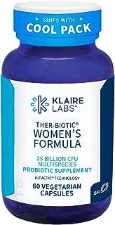 Klaire Labs Ther-Biotic Women's Probiotics - Support Healthy Vaginal pH & Comfort - 25b CFU Lactobacillus & Bifidobacteriu...