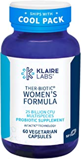 Klaire Labs Ther-Biotic Women's Formula Probiotic - 10 Targeted Species for Women, 25 Billion CFU Multi Probiotic with Lactobacillus & Bifidobacterium (60 Capsules)