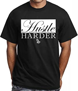 CaliDesign Men's Hustle Hard T Shirt Trap OG Dealer Blessed Plug Dope King Tee