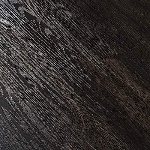 [neu.haus]® Suelo de vinilo autoadhesivo set ahorro (1m²) wengué -mate (7 láminas de PVC = 0,975 m²) suelo de diseño estructurado