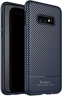 For Cover for Samsung Galaxy S10e iPaky Carbon Fiber Soft Silicone case Cover - Blue.