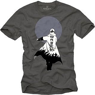 Anime T Shirt - Naruto Ninja Magliette Uomo Manica Corta - Regali Nerd Originali