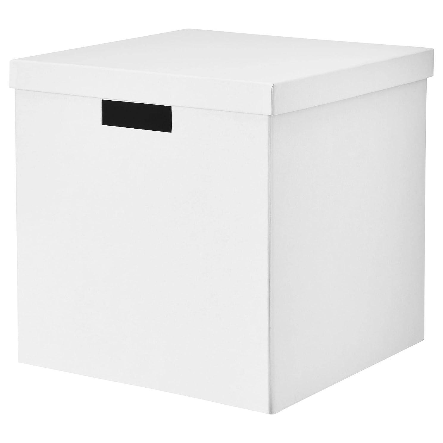 治世マニアック今までIKEA/イケア TJENA:収納ボックス ふた付き30x30x30 cm(ホワイト)00395426