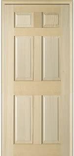 National Door Company ZZ23697R Unfinished Poplar Wood 6-Panel 34