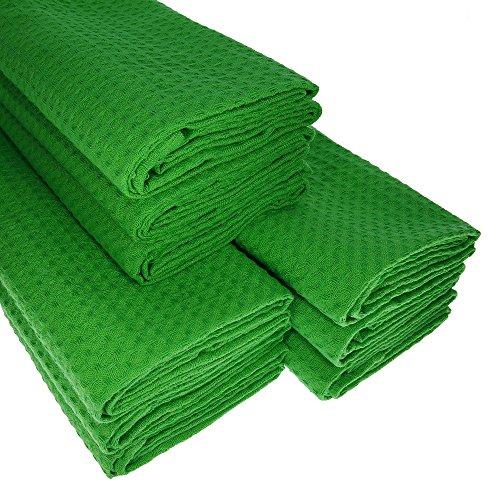& # x25ba ; Big Pack. 9 verte Torchons en coton/piqué gaufré/Cuisine chiffon/chiffon/Torchon chiffon à poussière///Manique/Qualité/absorbant & # x25 C4 de haute qualité,