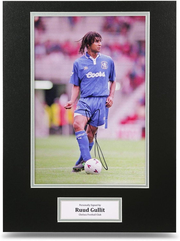 Ruud Gullit Signed 16x12 Photo Autograph Display Chelsea Memorabilia + COA
