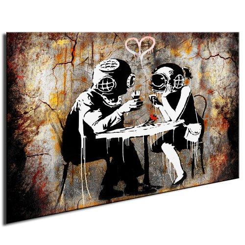 Banksy Streetart Graffiti Leinwand Bild 120x80cm / Leinwandbild Nr.: 442 fertig auf Keilrahmen/Leinwandbilder, Wandbilder, Poster, Pop Art Gemälde, Kunst - Deko Bilder