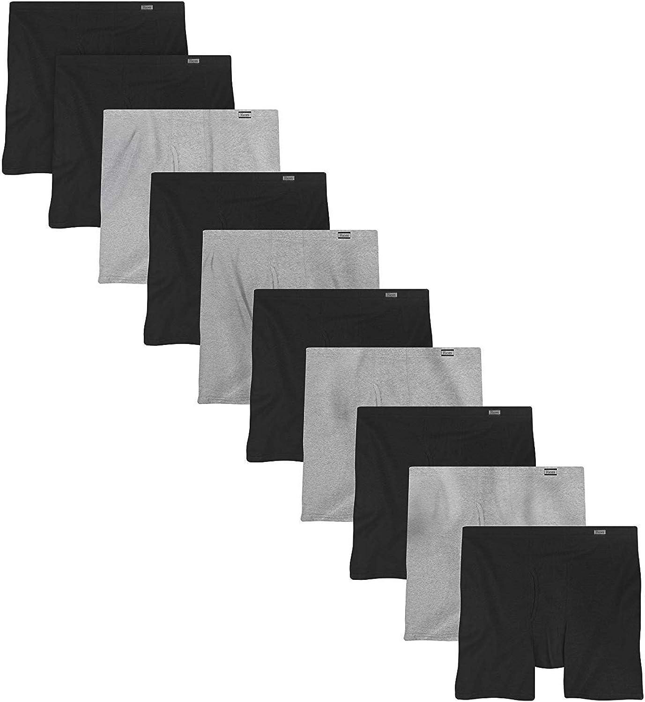 5 Pk Hanes Mens  Boxer Briefs W//ComfortSoft Waist Assorted Solids