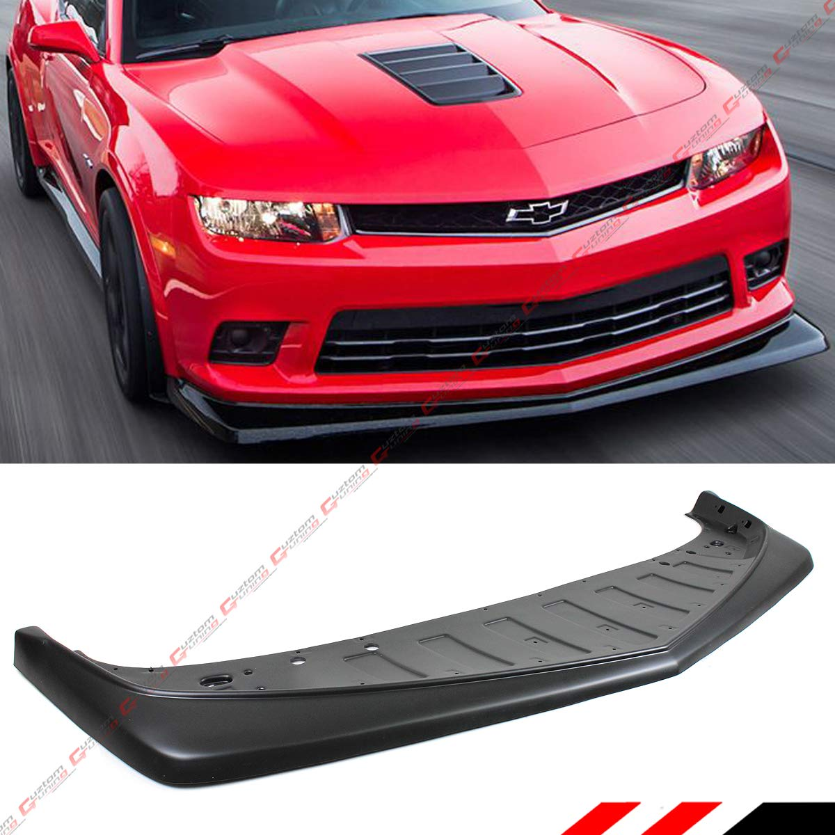 Fits 14-15 Chevy Camaro SS Z28 Ikon Style Front Bumper Lip Unpainted PP
