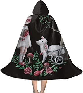 Easter Lamb Girl Blindfold Kid's Long Hooded Cloak Cape Halloween Party Role Children Cosplay Costumes