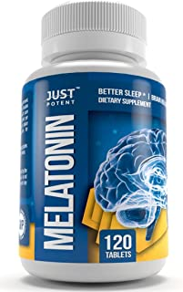Pharmaceutical Grade Melatonin Supplement by Just Potent | 10mg Tablets | Better Sleep | Brain Health | 120 Count | Fast Acting and Non-Habit Forming Sleep Aid