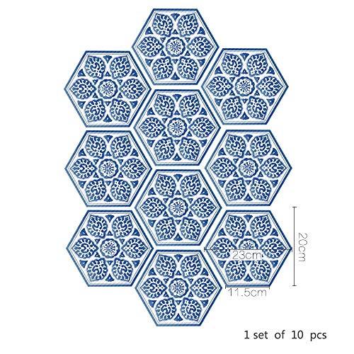 YSDDM Badmat Blauw En Wit Porselein Anti-slip Vloerstickers Chinese Stijl Huisdecoratie Zelfklevende Waterdichte China Tegel Stickers-in Muurstickers van Huis & Tuin