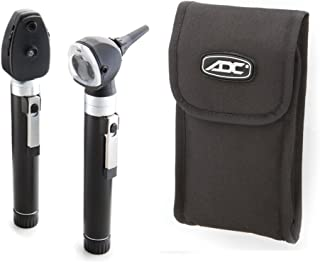 ADC Otoscope/Ophthalmoscope Diagnostic Set, Pocket Size, LED Lamp, 2.5V, Soft Case, Diagnostix 5110NLS