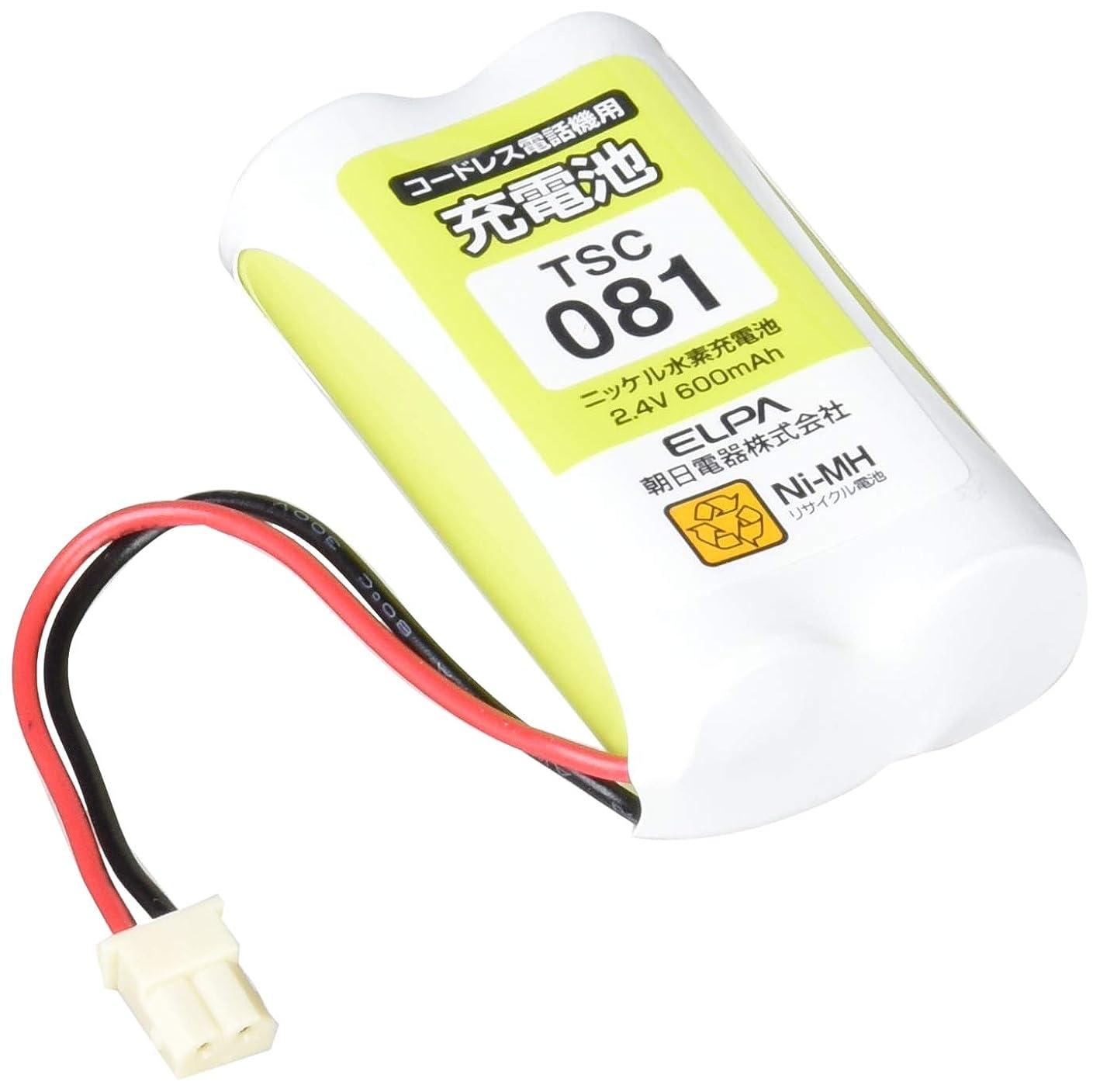 薄暗い略す日付付きELPA エルパ 朝日電器 電話機用充電池 TSC-081