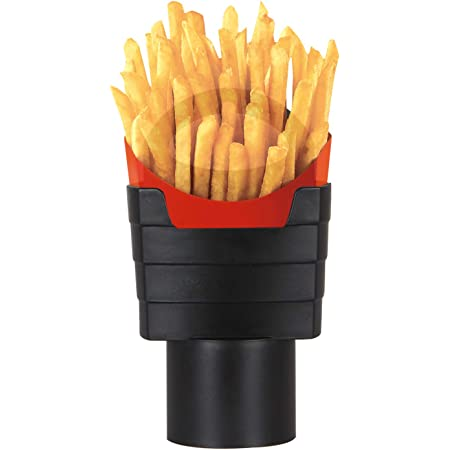 iSaddle French Fry Cup Holder - Automotive Interior Accessories Chips CupHolder for Cell Phone Fast Food Drink Beverage Key Fob Fits Vehicle Boat Truck RV (2.75 inch Base)
