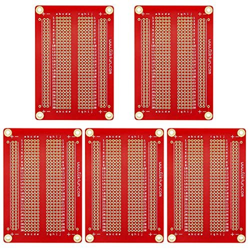 Price comparison product image Gikfun Solder-able Breadboard Gold Plated Finish Proto Board PCB DIY Kit for Arduino (Pack of 5PCS) GK1007