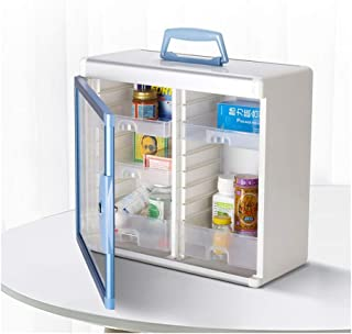 YRLHMYYH Medicine box Wall-mounted medicine cabinet, the Longxing Aluminum No. R8028 mobile dual family medical kit