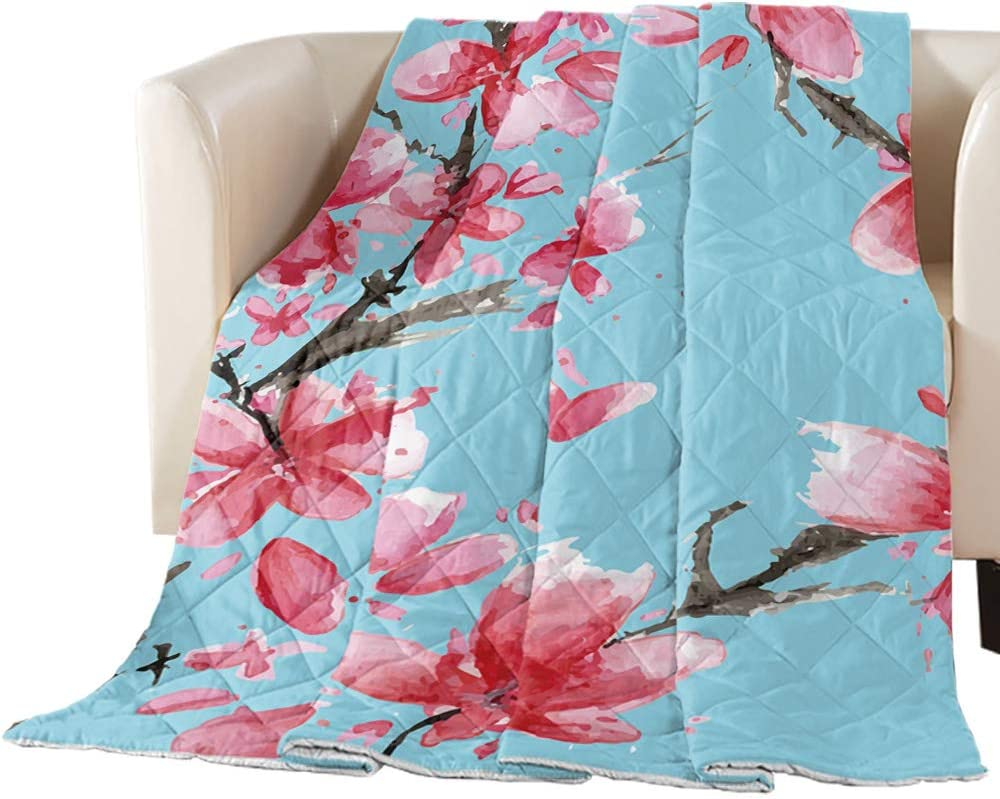 Max 48% OFF Arts Discount is also underway Language Bedspread Quilt Twin Size F Pink Watercolor Spring