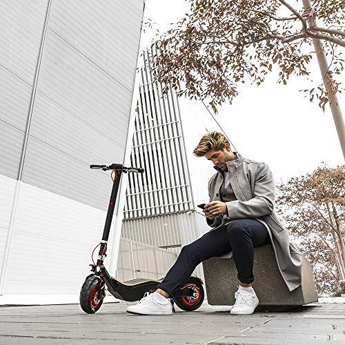 Cecotec Trottinette électrique Bongo Serie Z Red, Puissance Max de 1100 W, Batterie Amovible, autonomie jusqu'à 40 km, Traction arrière, Pneus Anti-éclatements 12'