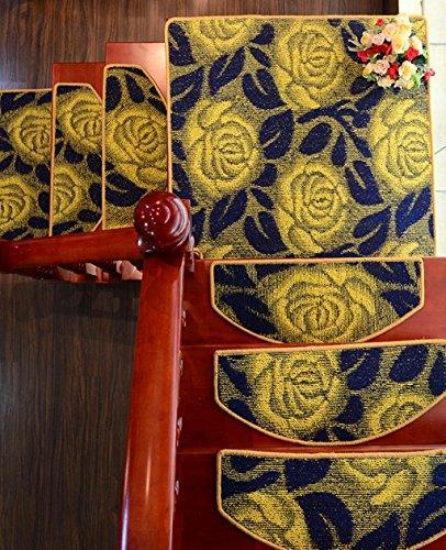 Scale Tappetino Pad, 5 Pezzi,Scale Moquette, Scalinata Rilievo Antiscivolo Tappeto Moderno Grigio Opaco ( Colore : B , dimensioni : 90*24cm )