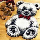6 Modell Bär Knüpfteppich Formteppich für Kinder und Erwachsene zum Selber Knüpfen Teppich Latch...