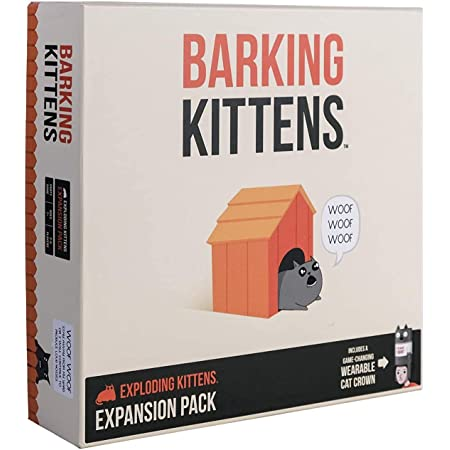 Barking Kittens - This Is The Third Expansion of Exploding Kittens - Family-Friendly Party Games - Card Games for Adults, Teens & Kids - (Edizione Inglese)