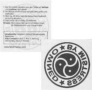 5 x Owned by Mistress Tattoo - belettering en symbolen in zwart -Sexy Kinky Fetisch Tattoo (5)
