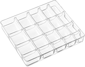 InterDesign Linus Jewelry Box, Small Tray 1, Clear