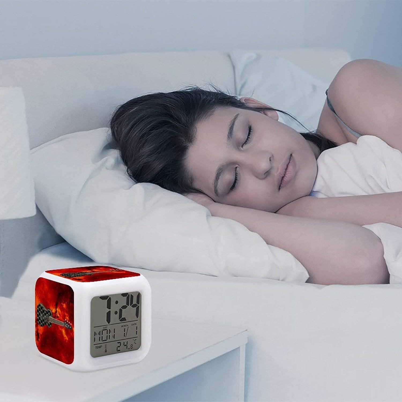 B-illie E-ilish Kleine Mini G Eometrische Quadratische Schlaf Sound Maschine zum Aufwachen f/ür Kinder Jungen und M/ädchen Zimmer Leuchtend Wecker
