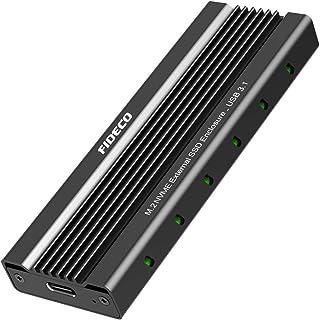 FIDECO M.2 NVME Carcaça Externa SSD, PCIe USB 3.1 Gen 2, 10 Gbps Adaptador, Caja Externa de SSD para M-Key & M+B Key NVME ...