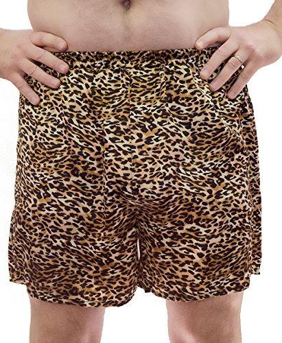 Vx Intimate Men's Satin Boxer Short # 8025 (M, Animal Print)
