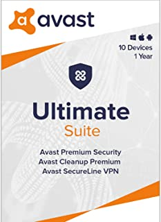 Avast Ultimate 2020   Antivirus+Cleaner+VPN   10 Devices, 1 Year [PC/Mac/Mobile Download]