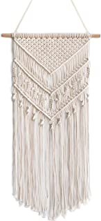 "Oululu Macrame Wall Hanging - Cotton Rope Woven Tapestry Boho Chic Home Decoration, 14"" W x 33"" L"