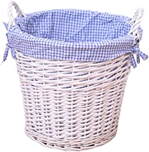 YAYADU Storage Basket Rattan Finishing Box Hand Weave High Capacity With Carry Handle Store Toy Clothes Newspapers Home Ho...