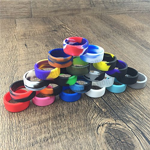 Tank Bands 21mm Silicone Tank Band Ring Bumper 21 COLORS AVAILABLE (4-PACK (Message Colors))