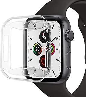 【2個セット】VICARA compatible Apple Watch series 5/4 ケース 新型 全面保護 Apple Watch 44mm カバー TPU素材 柔らかい 耐衝撃 脱着簡単 アップルウォッチ 5 ケース 高品質 Apple Watch ケース クリア(新型 44mm)