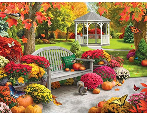Bits and Pieces 300 Große Teile Puzzle für Erwachsene Herbst Oasis Ii 300 Pc Fall Scene Jigsaw by Artist Alan Giana