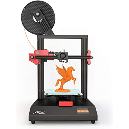 3 idea Imagine Create Print Anet ET4 Full-Featured Metal Frame Glass Heat Bed Color Touch Screen Power Failure Recovery Printing Build Volume 3D Printer (220X220X250 mm)