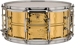 Ludwig Hammered Brass Snare Drum - 6.5 Inches X 14 Inches Tube Lugs