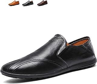 [Vocnako] ローファー スリッポン メンズ ビジネスシューズ 紳士靴 ドライビング ローカット 靴 ストレートチップ ウォーキング シューズ カジュアルシューズ 防滑 レースアップ 外羽根 高級靴