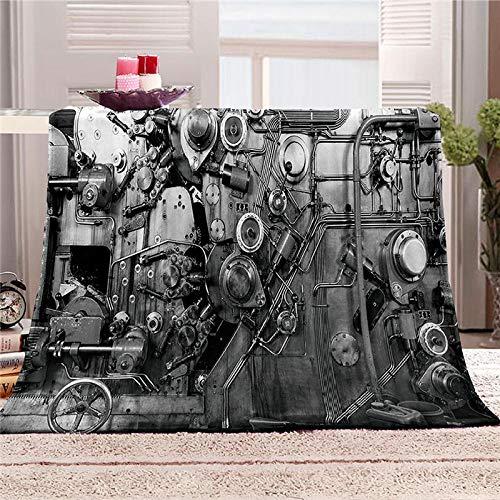 LOVEXOO Ropa De Cama Manta de impresión 3D Suave Bosque Tren a Vapor 180x200 cm Patrón Manta esponjosa Super Suave Manta De Invierno