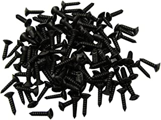 YMC 3mm Bass & Guitar Pickguard Screws for Strat Tele SG LP Guitar Bass Replacement,Black (Pack of 50)