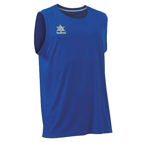 Luanvi Basket Pol Camiseta Deportiva sin Mangas, Hombre, Azul, XS