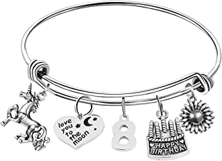 MEMGIFT Birthday Gifts for Women Fabulous Live Laugh Love Cake Charms Age 13 to 90 Bracelet Gift Jewelry for Her