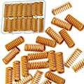 20 Pieces Yellow Heating Bed Spring Die Head Spring 3D Printer Compression Spring 0.31 in OD 0.78 in Length, Compatible with Creality CR-10 10S S4 Ender 3 Heating Bed Spring Bottom Connection Level