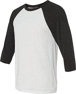 Canvas Unisex 3/4-Sleeve Baseball T-Shirt XS WHT FLCK/ CHR TR
