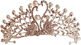 RKY Parte superiore delle ragazze, accessori copricapo corona Crown Princess dei capelli della forcella fascia Silver Jewe...